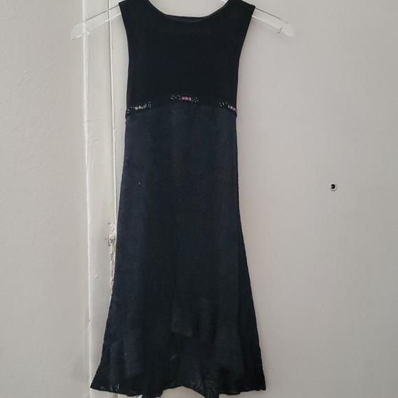George Girls High Low Black Dress